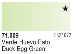 Model Air - Duck Egg Green 009 <br>Vallejo71009