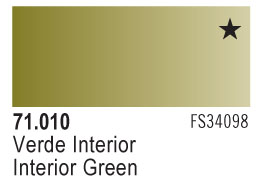 Model Air - Interior Green 010 <br>Vallejo71010